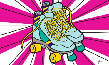 Title: Created this rollerskate illustration with a retro feel.