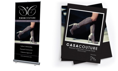 Retractable banner and lookbook designed for Casa Couture
