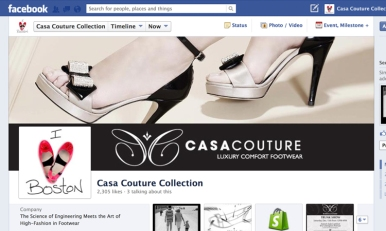 Designed facebook headers and profile pictures for Casa Couture