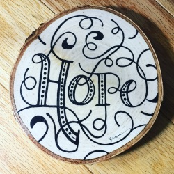 Hope - This artwork is created using maker on wood.