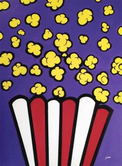 POP ART - This painting is created using acrylic and marker on canvas.