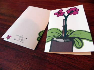 Illustrated this floral design for graceful greeting's line of offset printed cards.