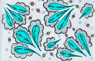 Pattern created using markers.