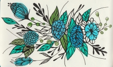 Florals created using markers