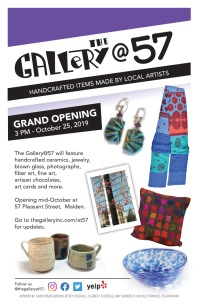 Photographed and designed this flyer for the Gallery@57