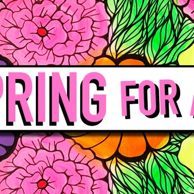 Created a web banner for this event and hand painted the floral background.