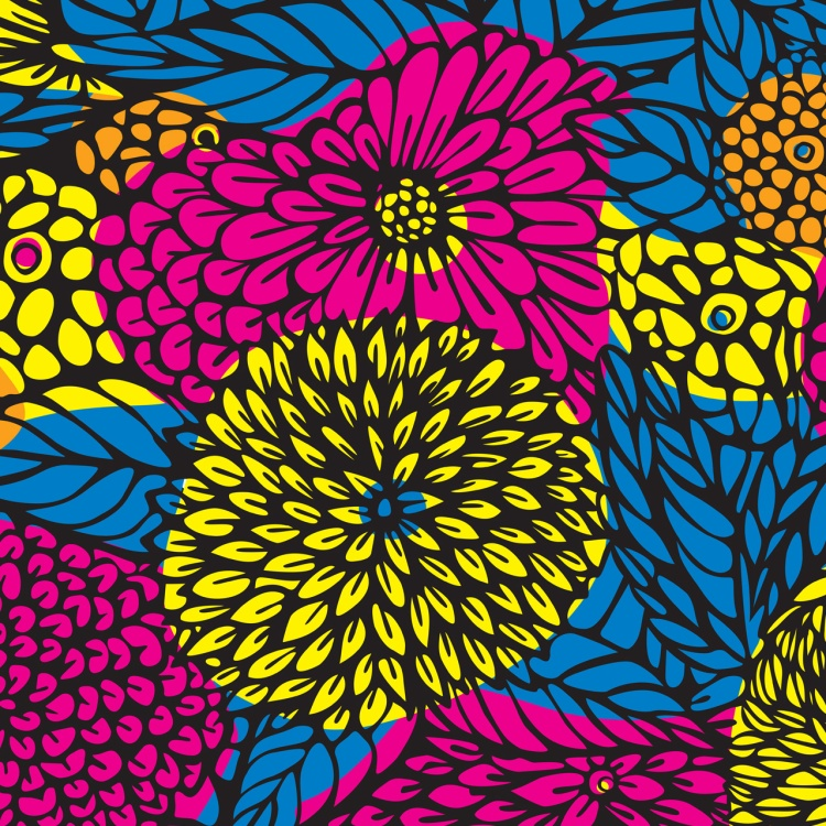 Digital floral pattern.